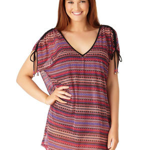 Anne Cole Multi Color Swimsuit Cover Up Plus 16W